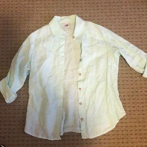 Baby blue button up shirt